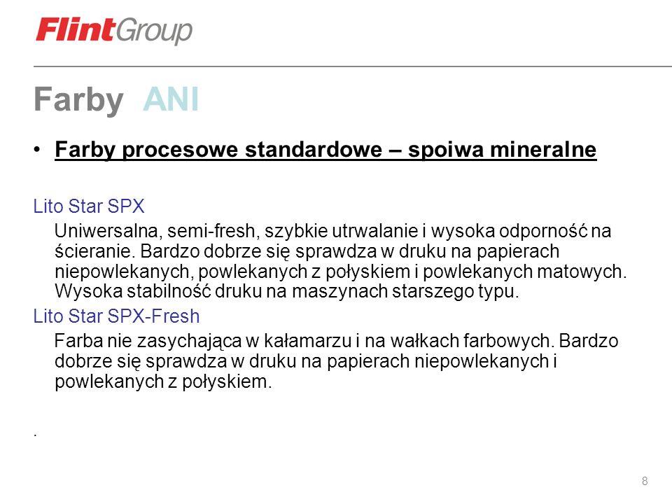 Farby ANI Farby procesowe standardowe – spoiwa mineralne Lito Star SPX