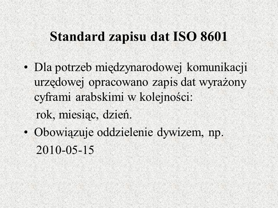 Standard zapisu dat ISO 8601