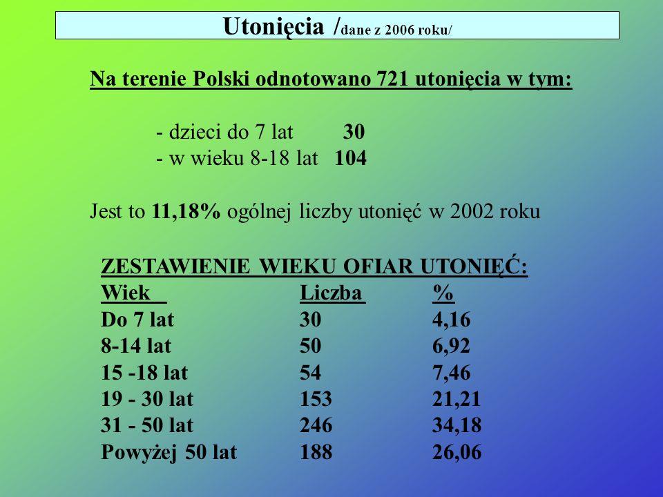 Utonięcia /dane z 2006 roku/
