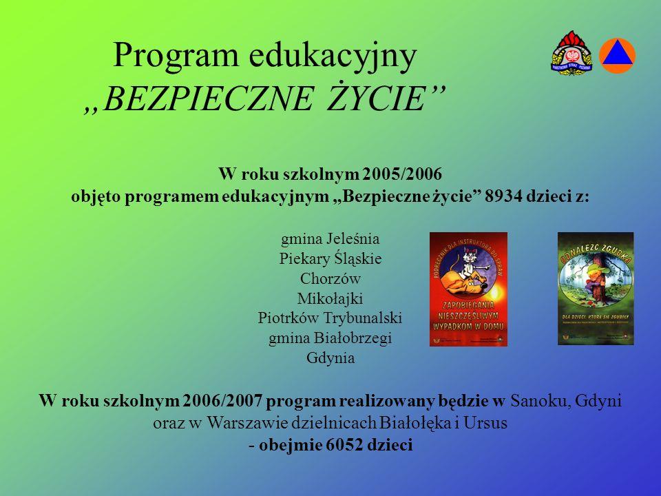 """Program edukacyjny """"BEZPIECZNE ŻYCIE"""
