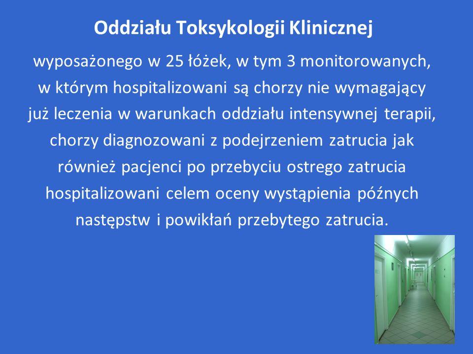 Oddziału Toksykologii Klinicznej