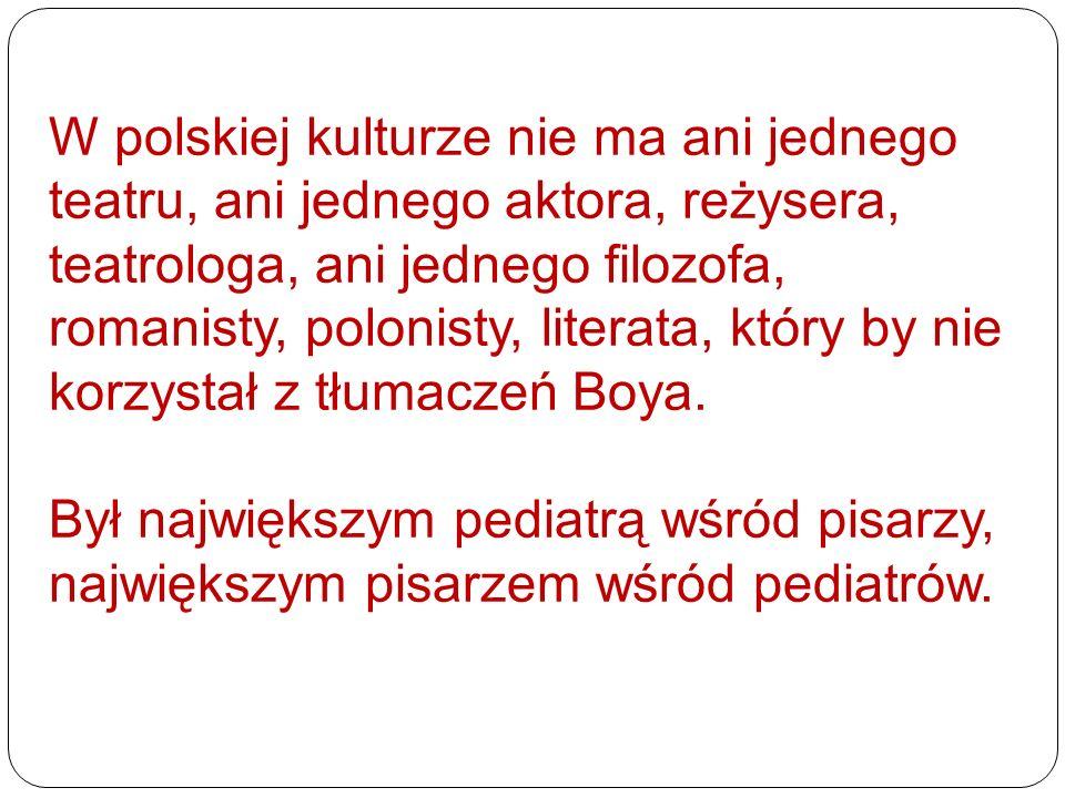 W polskiej kulturze nie ma ani jednego teatru, ani jednego aktora, reżysera, teatrologa, ani jednego filozofa, romanisty, polonisty, literata, który by nie