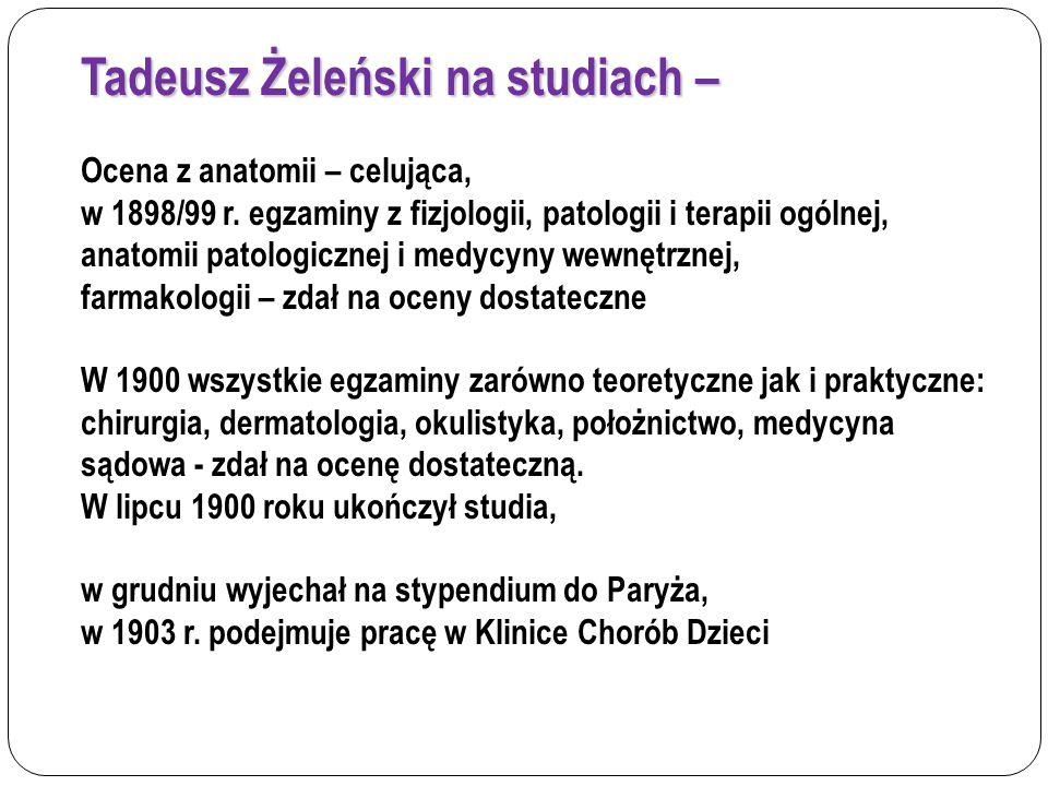 Tadeusz Żeleński na studiach –