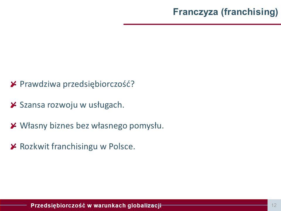 Franczyza (franchising)