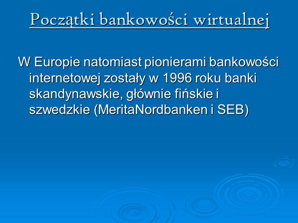 Początki bankowości wirtualnej