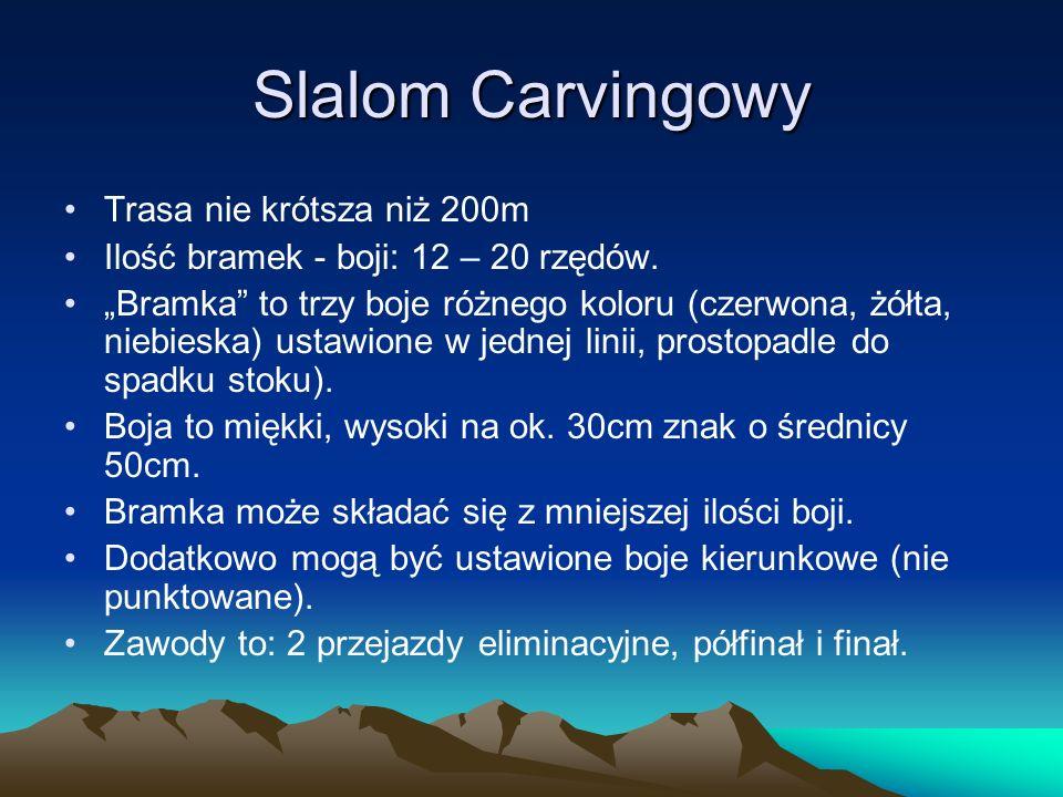 Slalom Carvingowy Trasa nie krótsza niż 200m