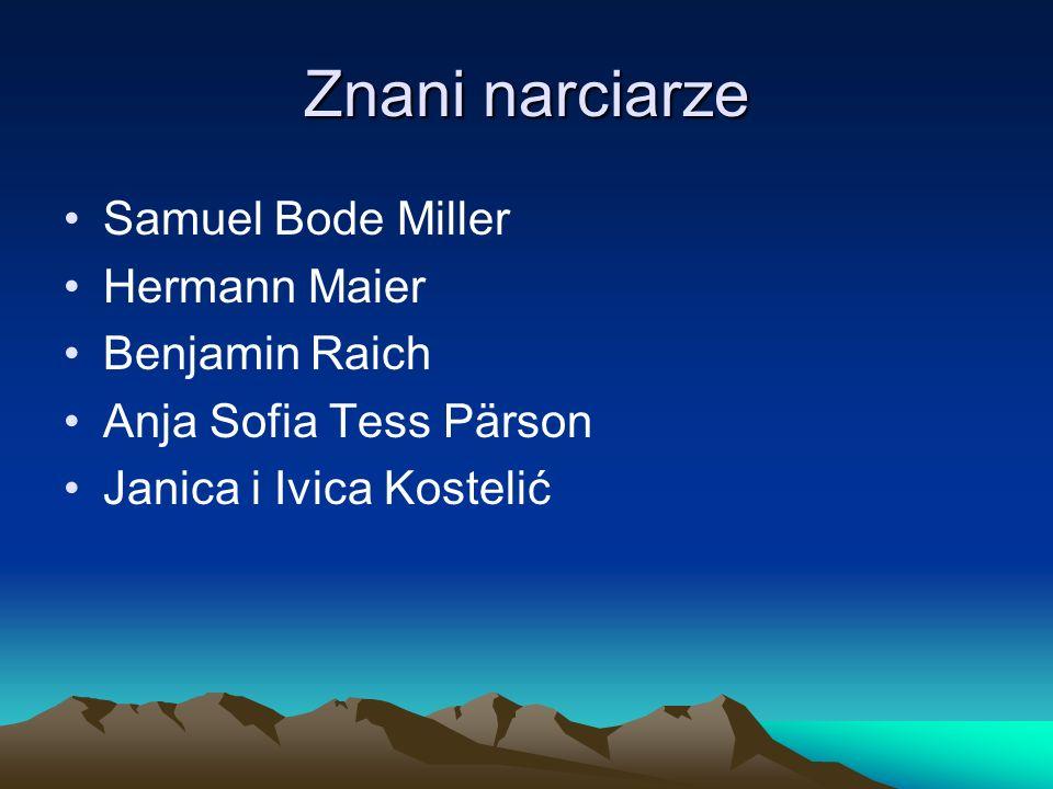 Znani narciarze Samuel Bode Miller Hermann Maier Benjamin Raich