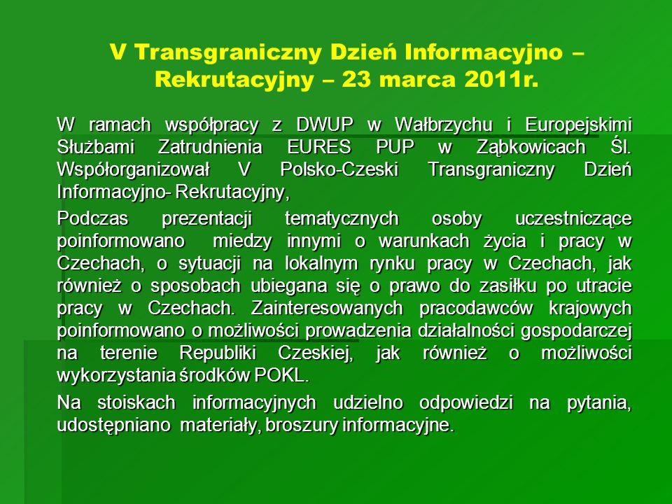 V Transgraniczny Dzień Informacyjno – Rekrutacyjny – 23 marca 2011r.