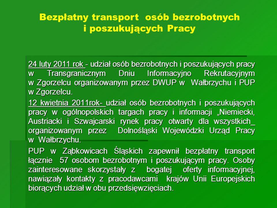 Bezpłatny transport osób bezrobotnych i poszukujących Pracy