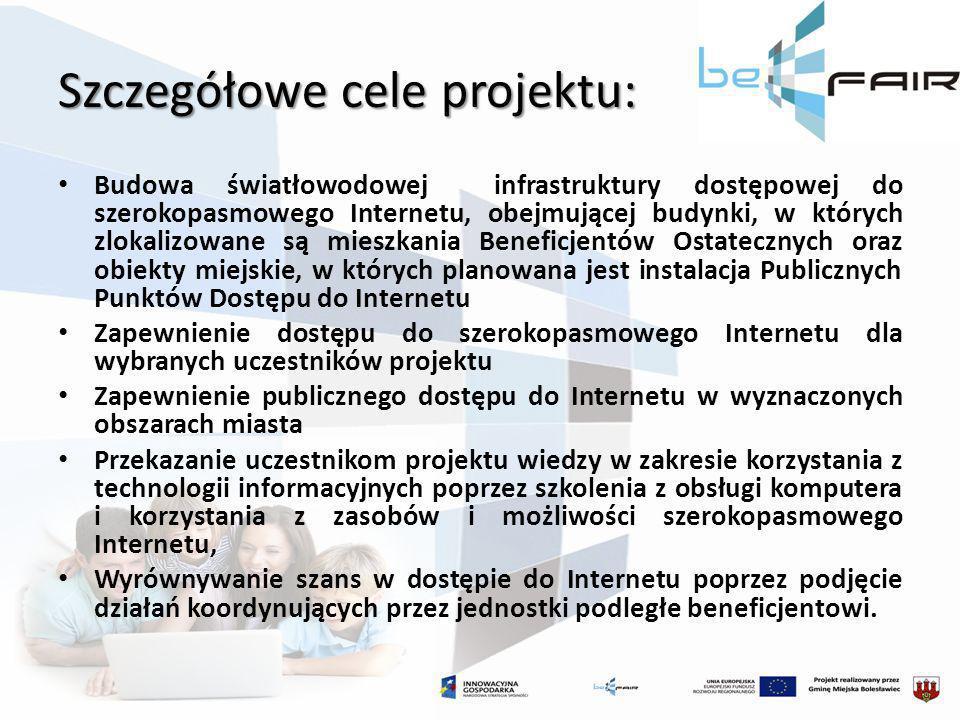 Szczegółowe cele projektu: