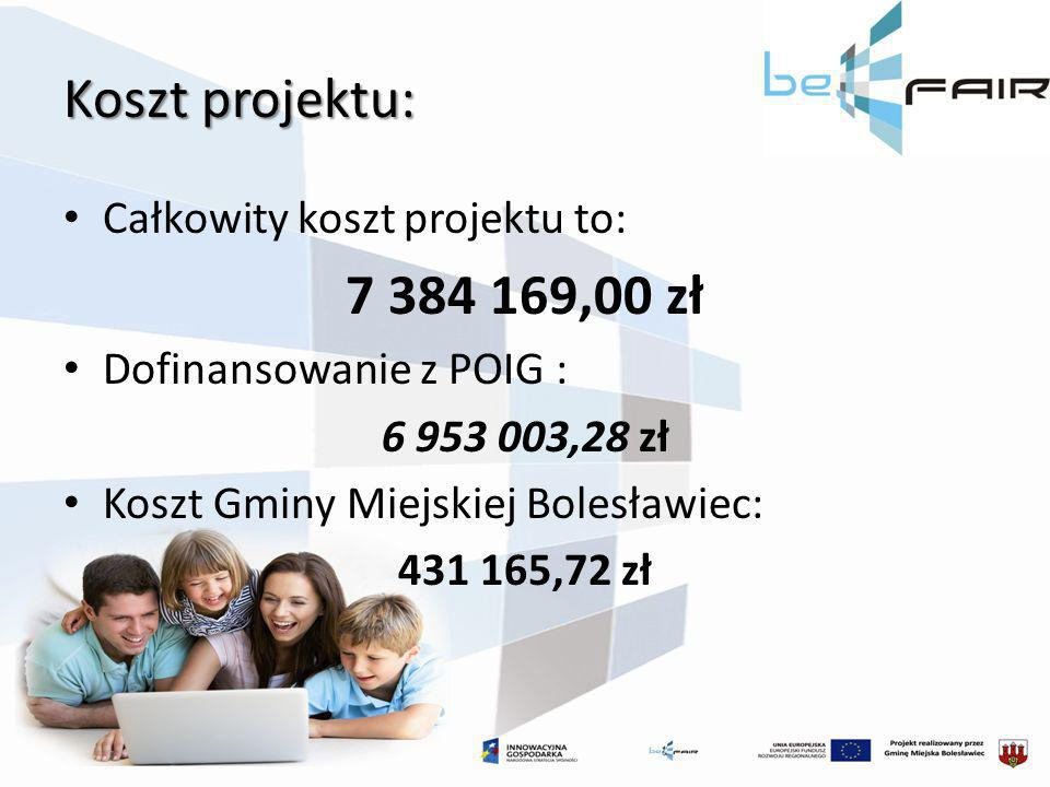 Koszt projektu: 7 384 169,00 zł Całkowity koszt projektu to: