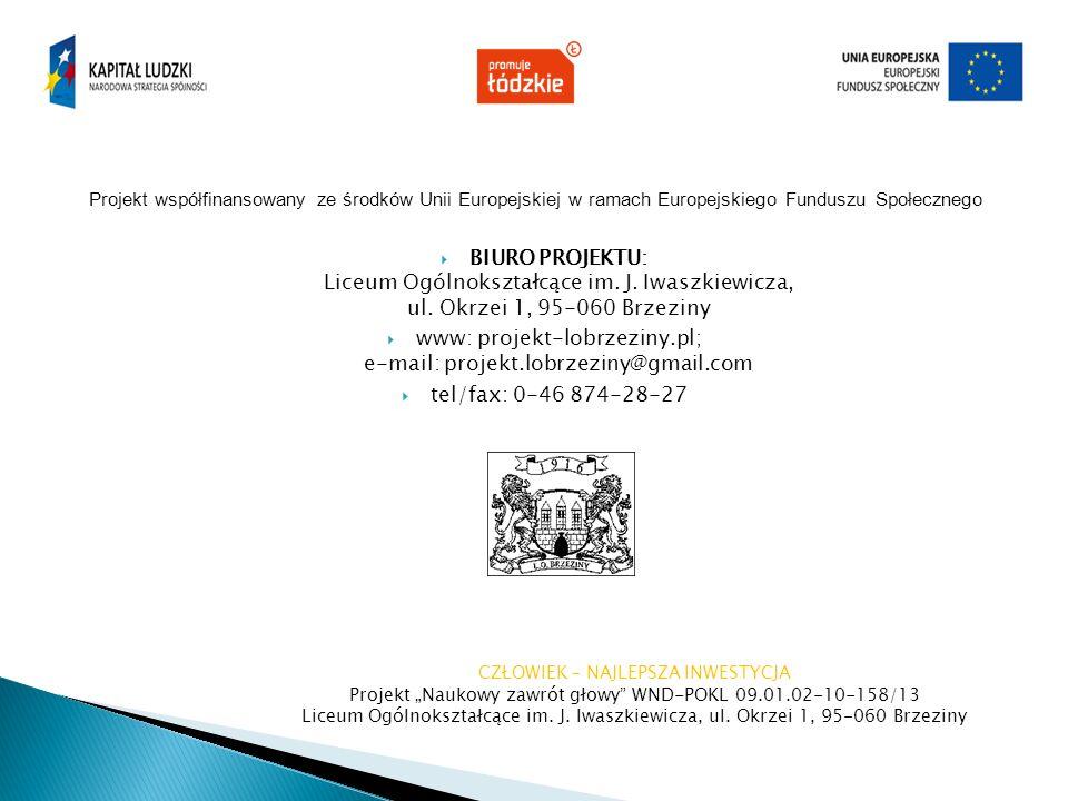 www: projekt-lobrzeziny.pl; e-mail: projekt.lobrzeziny@gmail.com