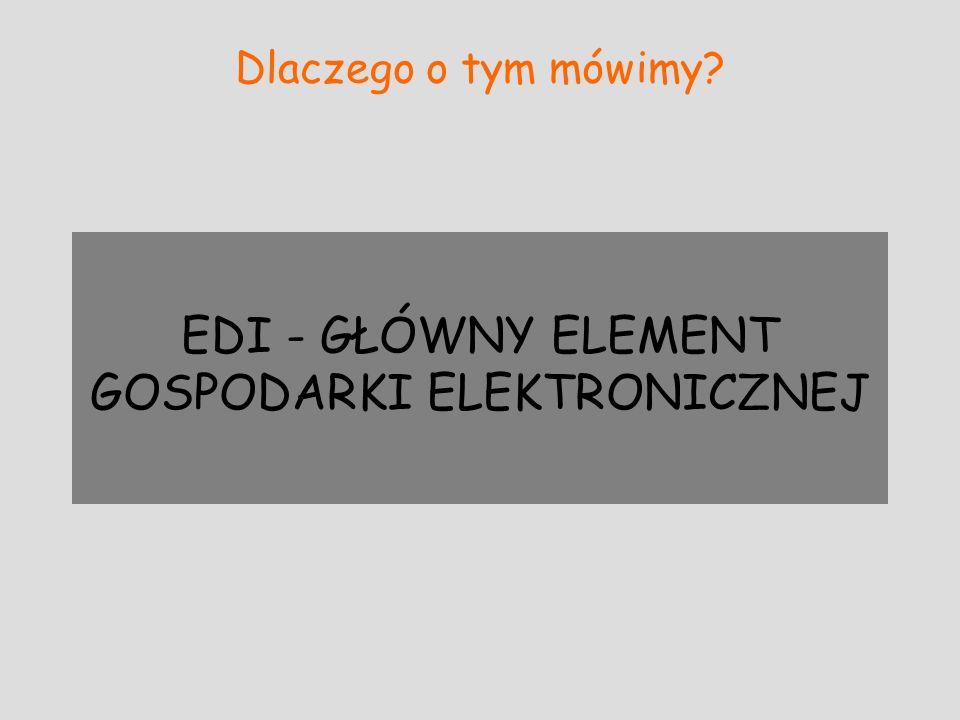 EDI - GŁÓWNY ELEMENT GOSPODARKI ELEKTRONICZNEJ
