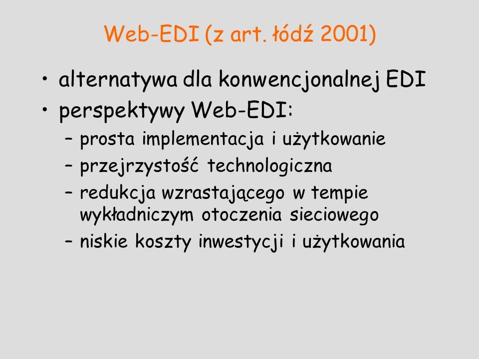 alternatywa dla konwencjonalnej EDI perspektywy Web-EDI: