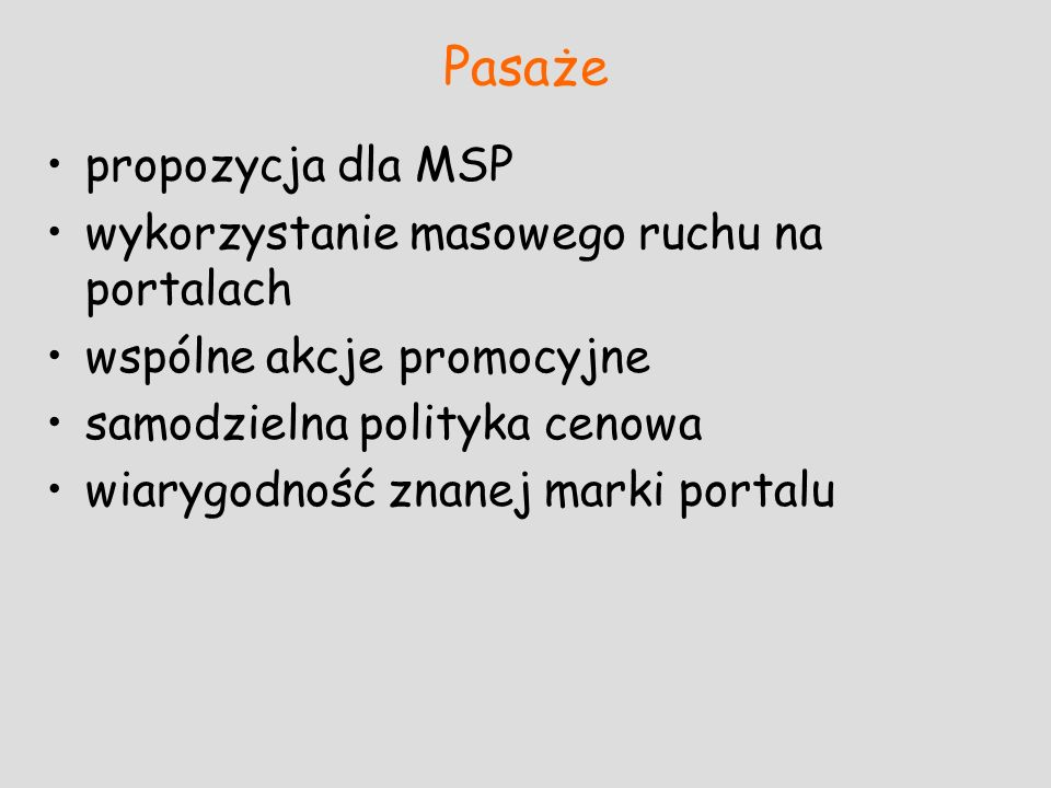 Pasaże propozycja dla MSP wykorzystanie masowego ruchu na portalach