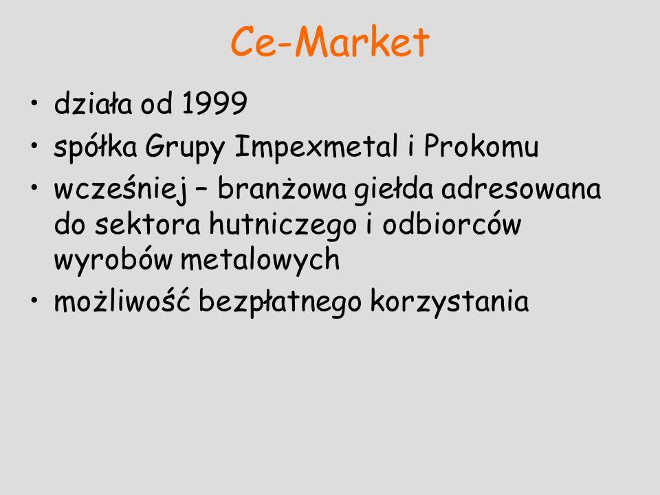 Ce-Market działa od 1999 spółka Grupy Impexmetal i Prokomu