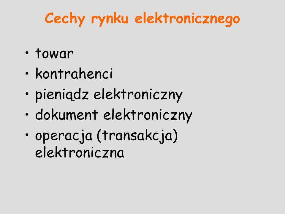 Cechy rynku elektronicznego
