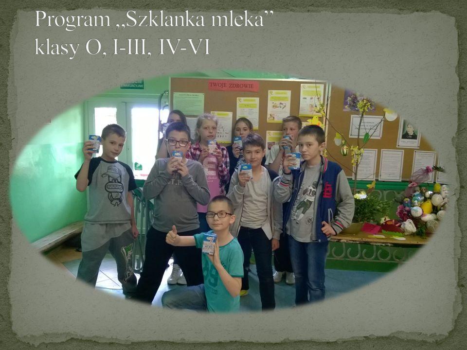 "Program ""Szklanka mleka klasy O, I-III, IV-VI"