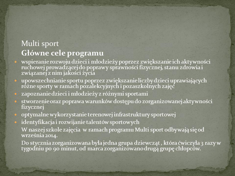 Główne cele programu Multi sport