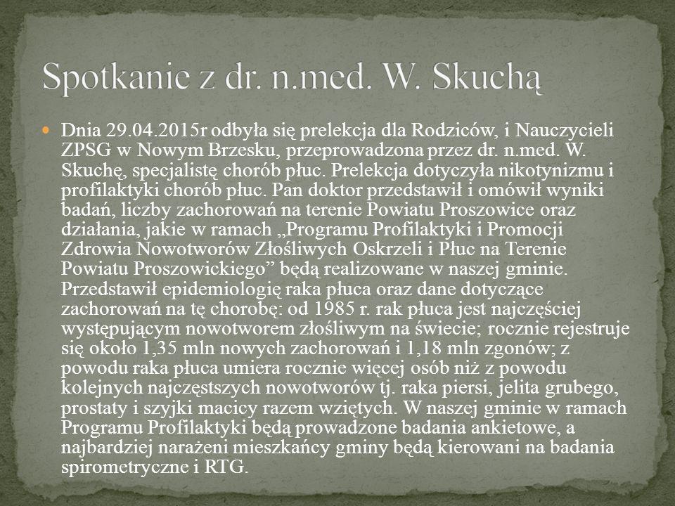 Spotkanie z dr. n.med. W. Skuchą