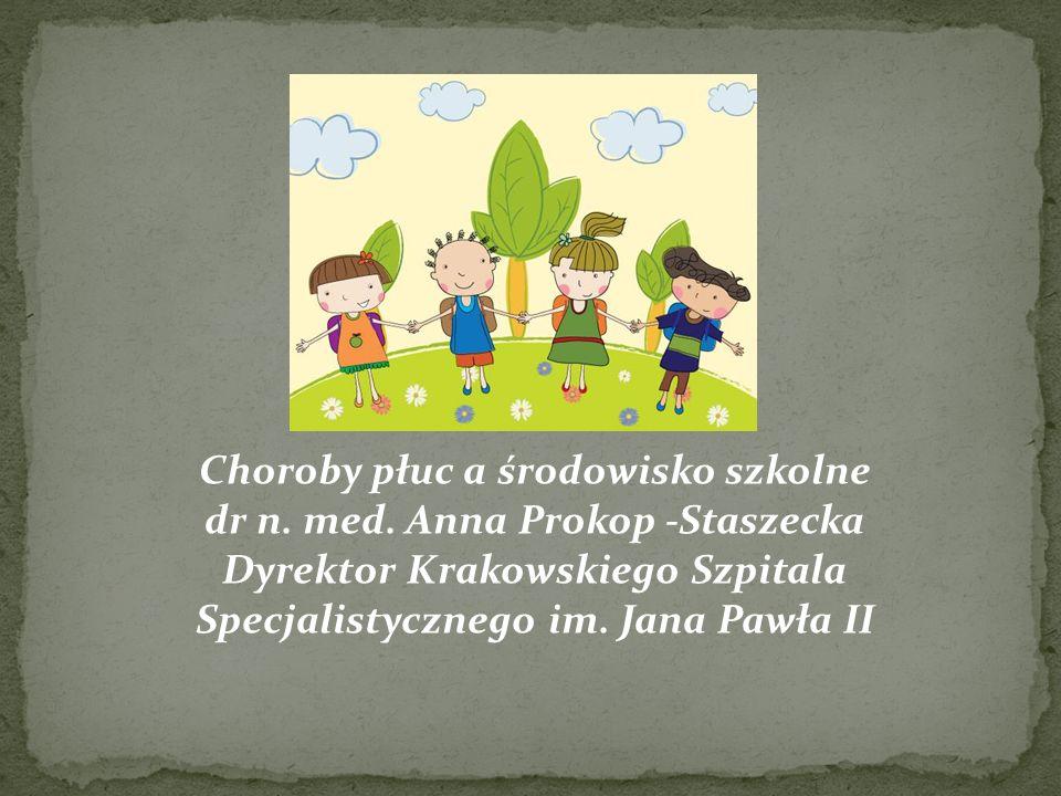 Choroby płuc a środowisko szkolne dr n. med. Anna Prokop -Staszecka