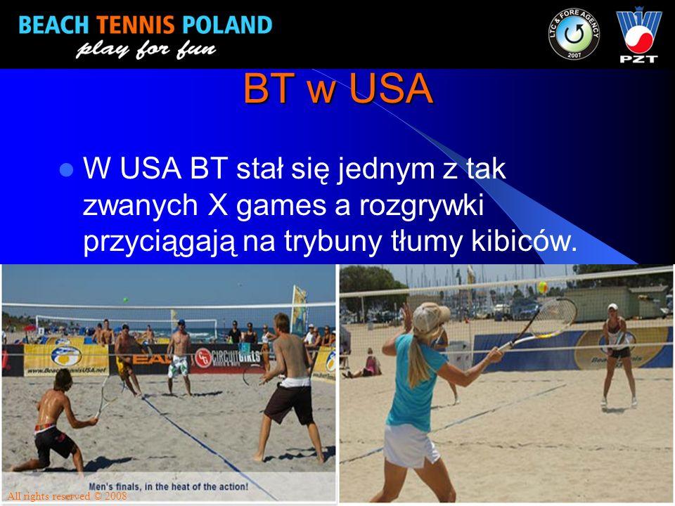 BT w USA W USA BT stał się jednym z tak zwanych X games a rozgrywki przyciągają na trybuny tłumy kibiców.