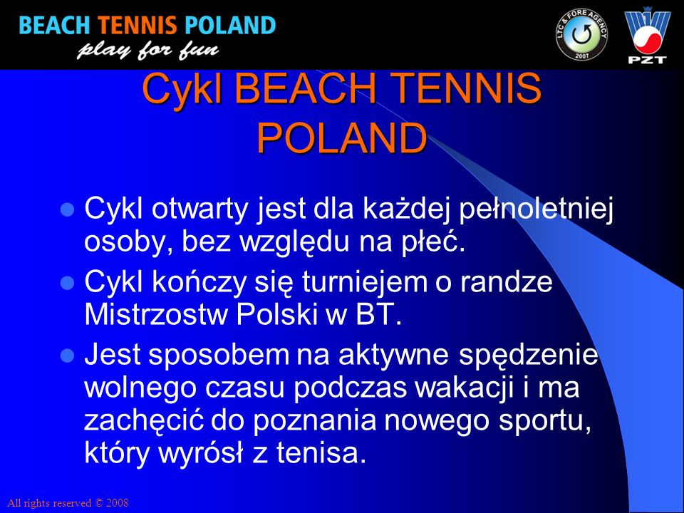 Cykl BEACH TENNIS POLAND