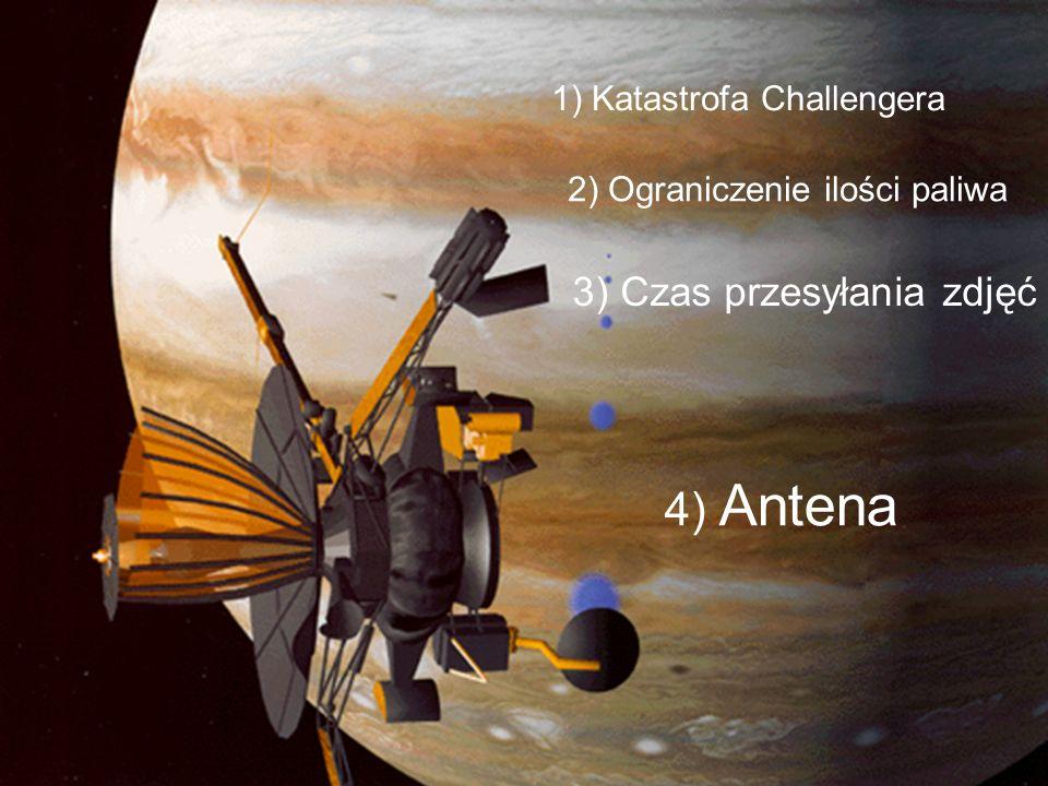 4) Antena 3) Czas przesyłania zdjęć 1) Katastrofa Challengera