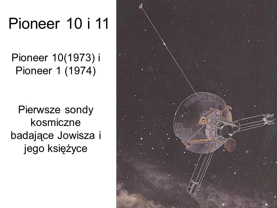 Pierwsze sondy kosmiczne badające Jowisza i jego księżyce