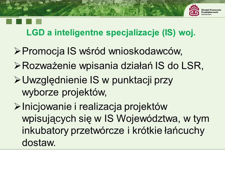 LGD a inteligentne specjalizacje (IS) woj.