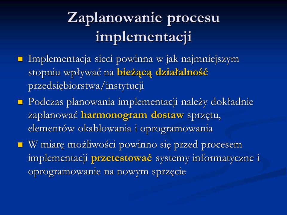 Zaplanowanie procesu implementacji