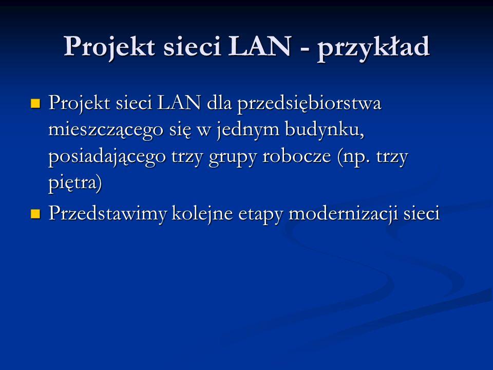Projekt sieci LAN - przykład