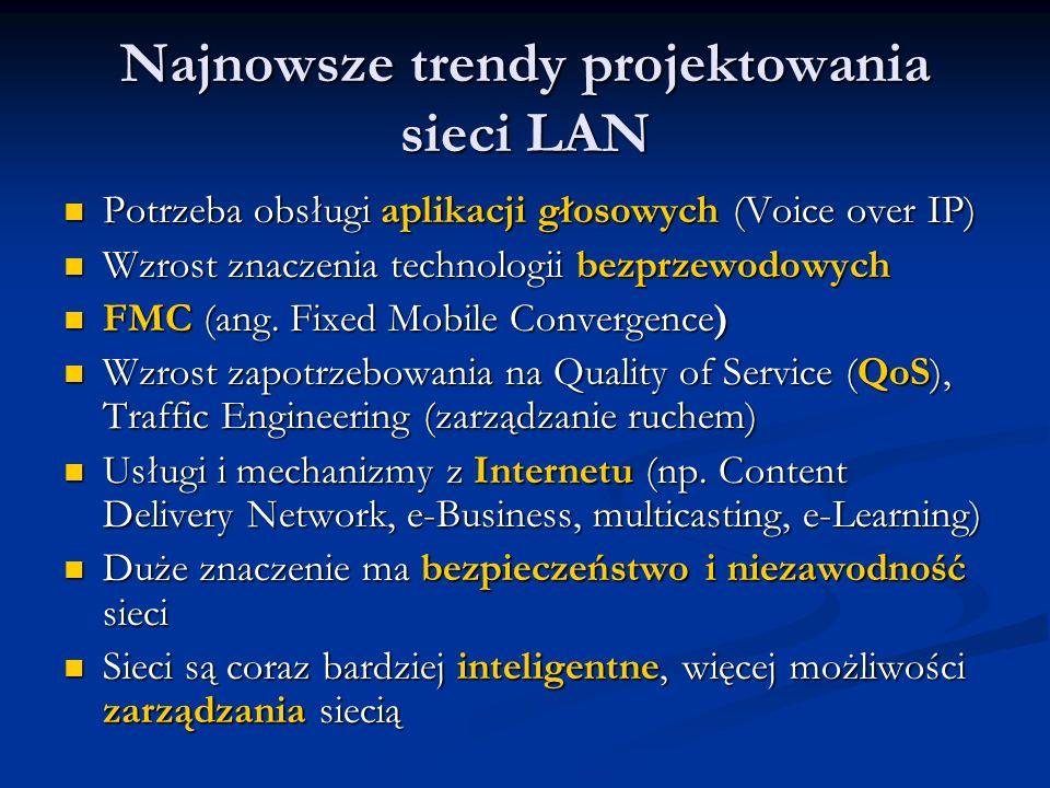 Najnowsze trendy projektowania sieci LAN