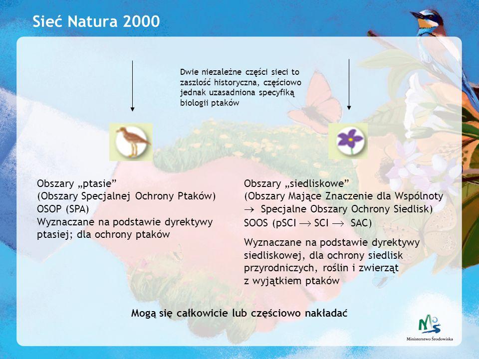 """Sieć Natura 2000 Obszary """"ptasie (Obszary Specjalnej Ochrony Ptaków)"""