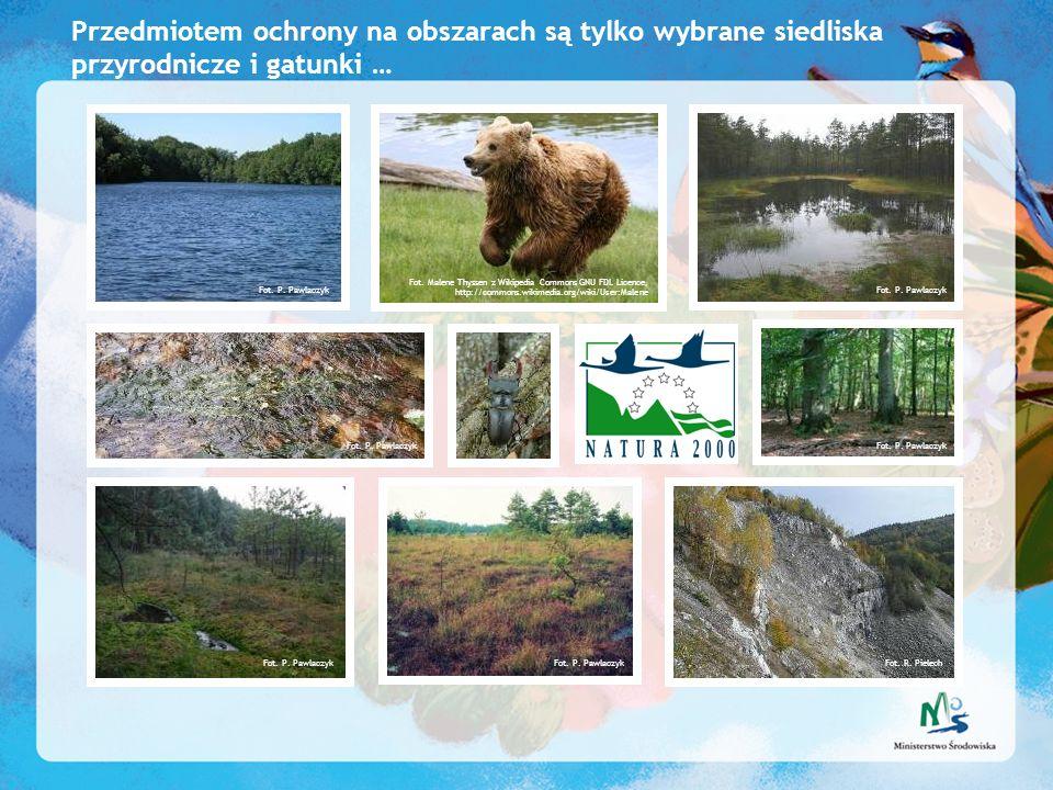 Przedmiotem ochrony na obszarach są tylko wybrane siedliska przyrodnicze i gatunki …