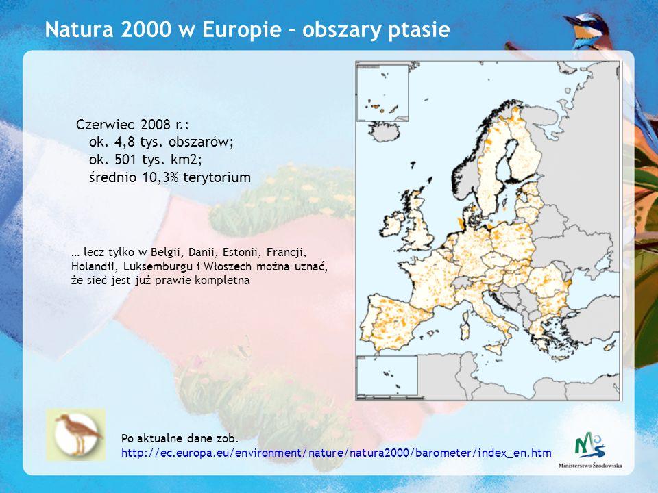 Natura 2000 w Europie – obszary ptasie