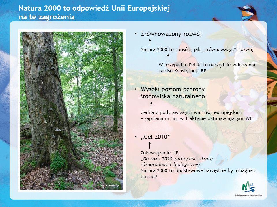 Natura 2000 to odpowiedź Unii Europejskiej na te zagrożenia