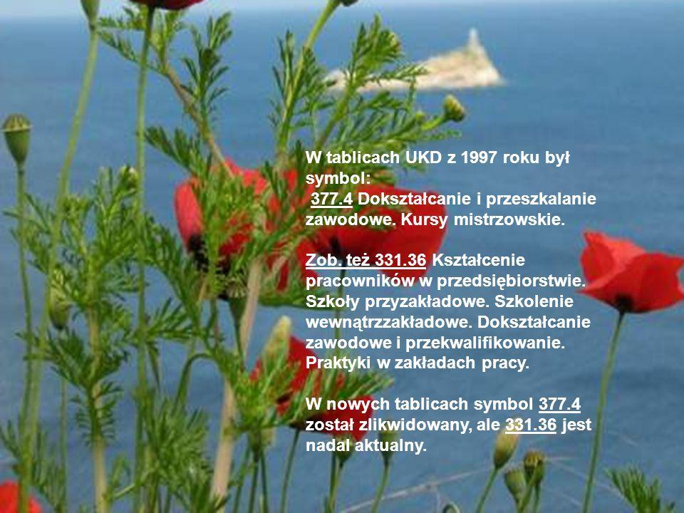 W tablicach UKD z 1997 roku był symbol: