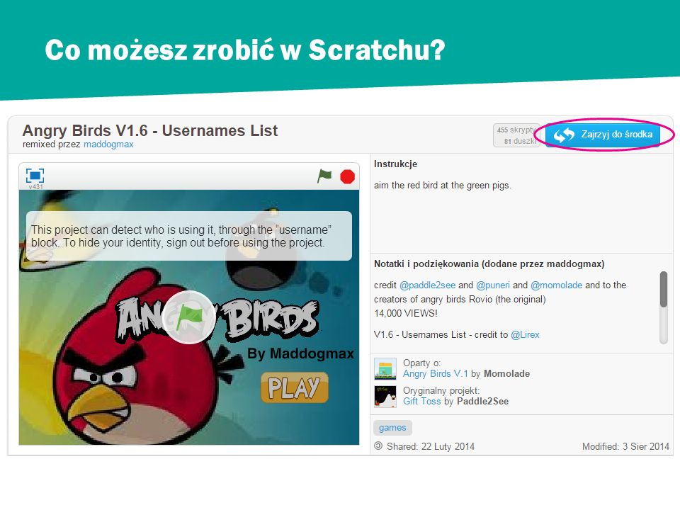 Co możesz zrobić w Scratchu