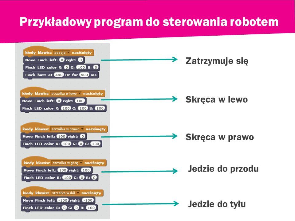 Przykładowy program do sterowania robotem