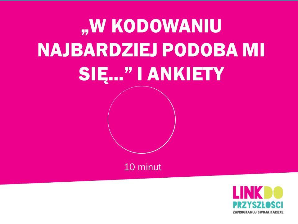 """""""W KODOWANIU NAJBARDZIEJ PODOBA MI SIĘ… I ANKIETY"""