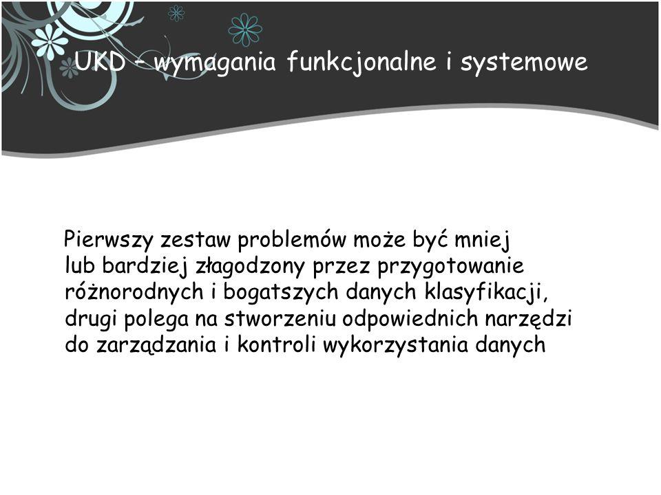 UKD – wymagania funkcjonalne i systemowe