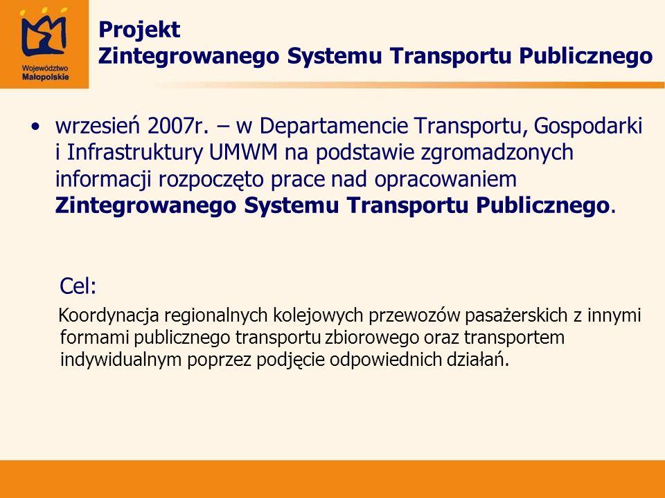 Projekt Zintegrowanego Systemu Transportu Publicznego