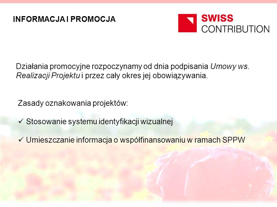 Zasady oznakowania projektów: