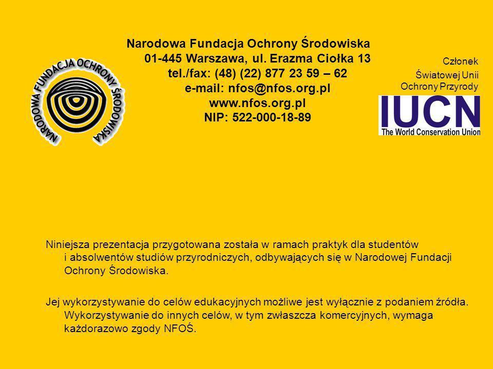 Narodowa Fundacja Ochrony Środowiska 01-445 Warszawa, ul