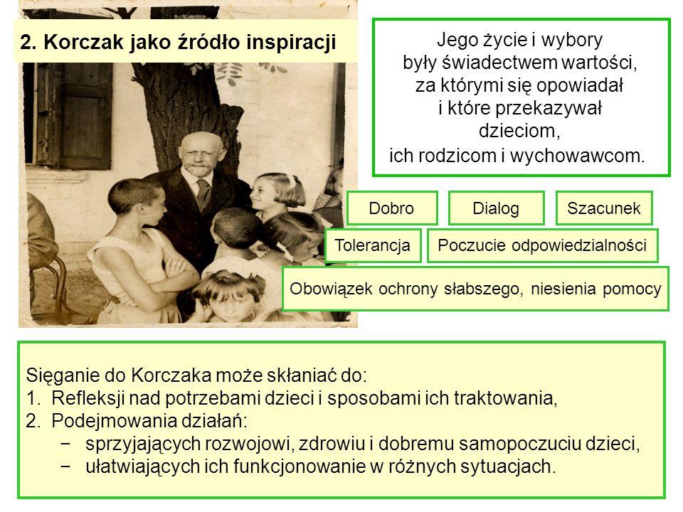 2. Korczak jako źródło inspiracji
