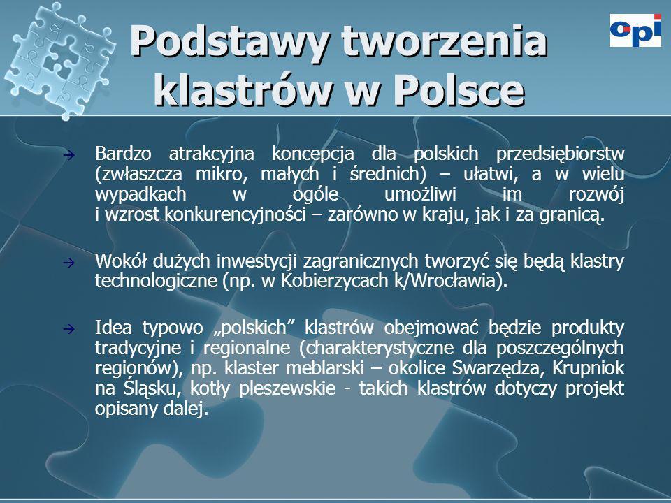 Podstawy tworzenia klastrów w Polsce