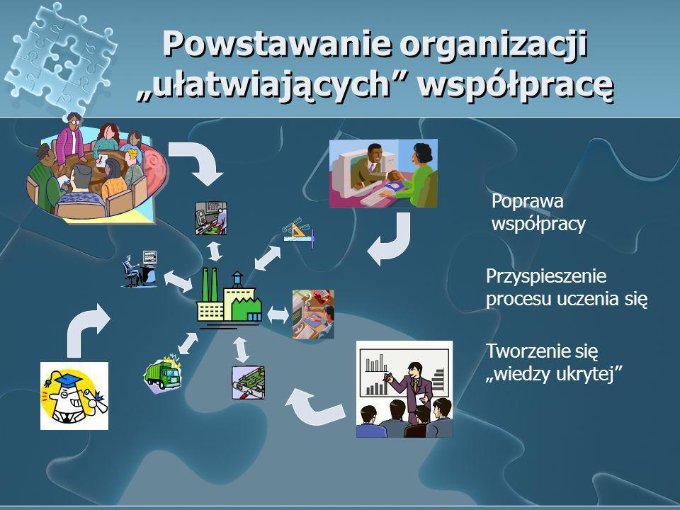 """Powstawanie organizacji """"ułatwiających współpracę"""
