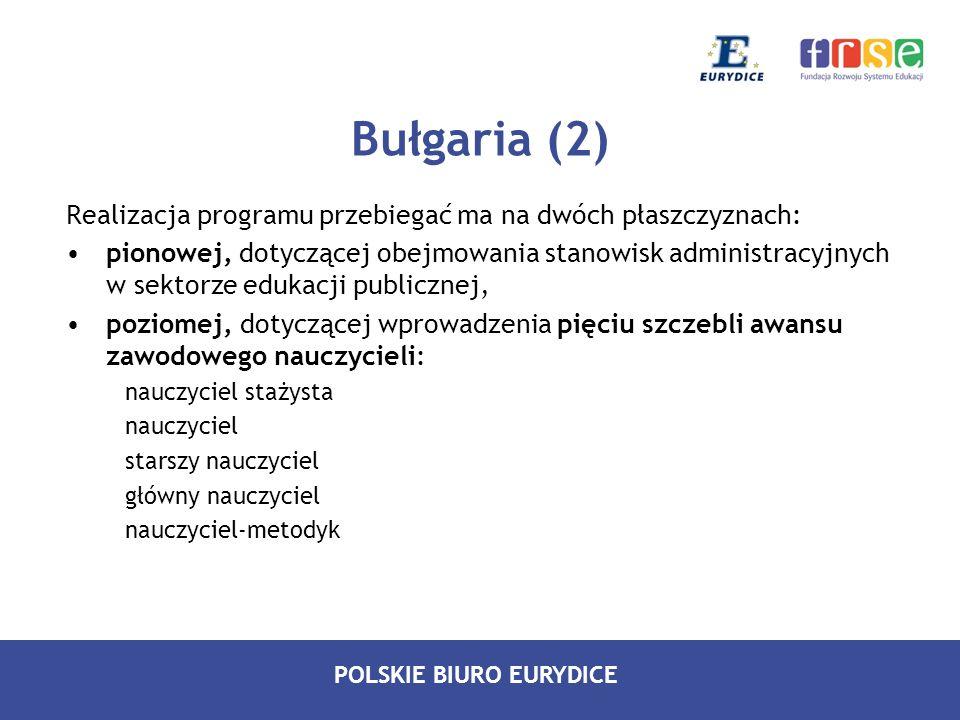 Bułgaria (2) Realizacja programu przebiegać ma na dwóch płaszczyznach: