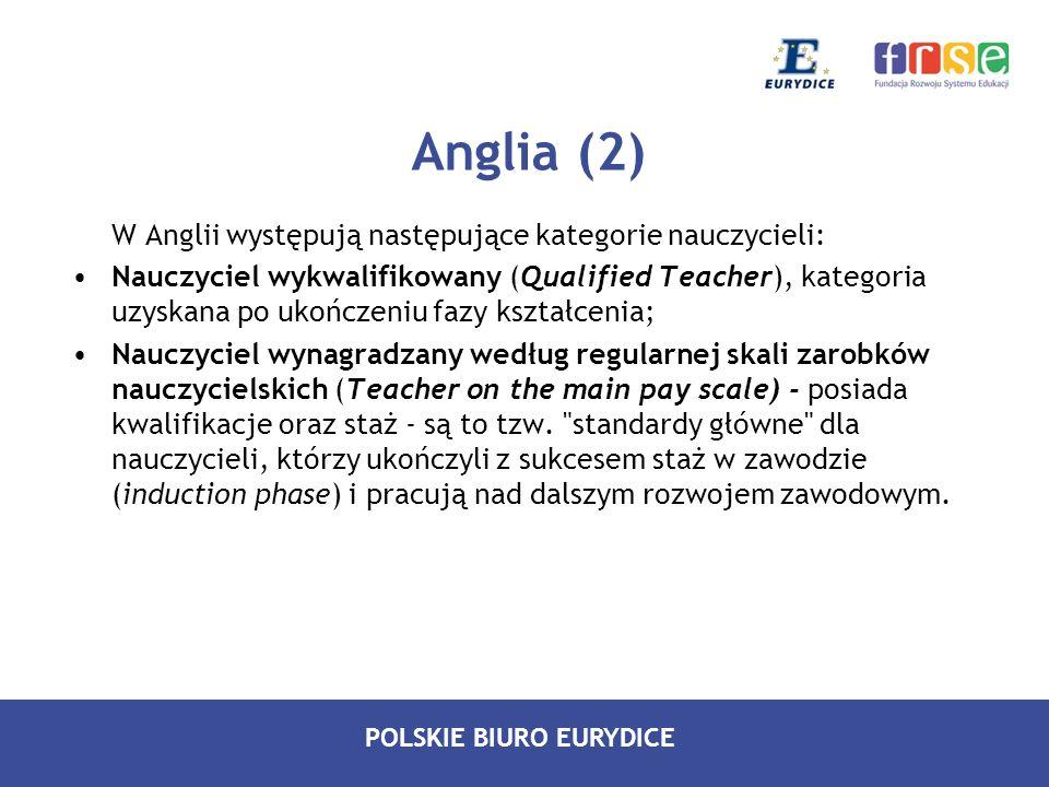 Anglia (2) W Anglii występują następujące kategorie nauczycieli: